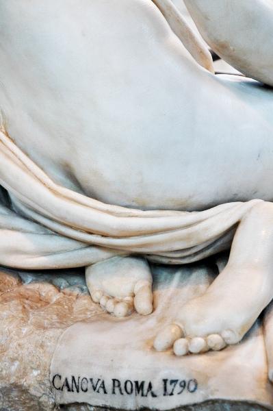 Antonio Canova, Maddalena penitente (1793), dettaglio