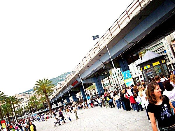 Coda all\'Acquario di Genova