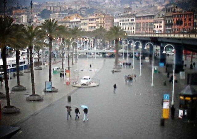 pioggia al porto antico