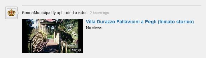 Villa Durazzo Pallavicini a Pegli (filmato storico)