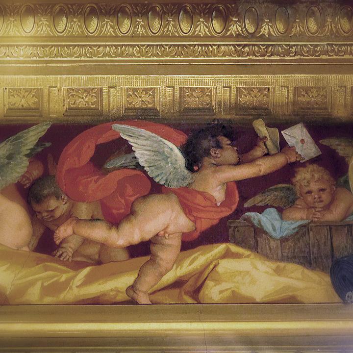 allegoria della posta, palazzo Orsini