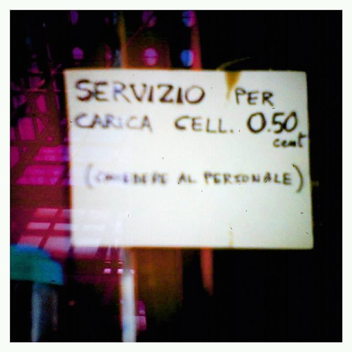 al bar carica cell  a pagamento