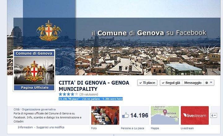 Genova su Facebook (2014)