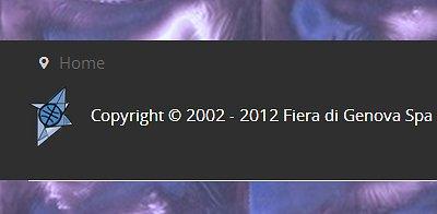 Il sito della Fiera di Genova il Copyright è del 2012