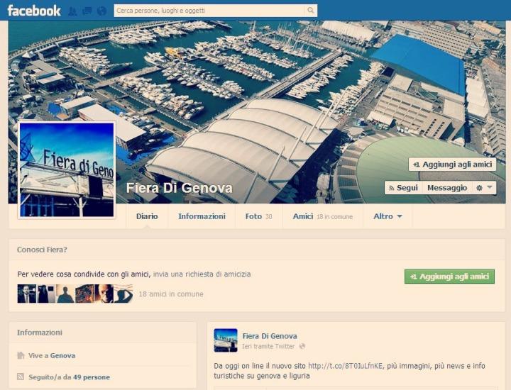 Su Facebook la Fiera di Genova è - stranamente - una persona - Facciamocela amica