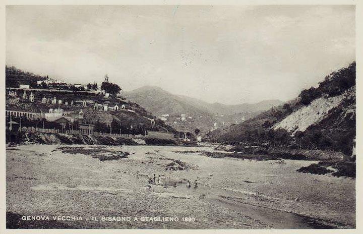 Il Bisagno a Staglieno nel 1890