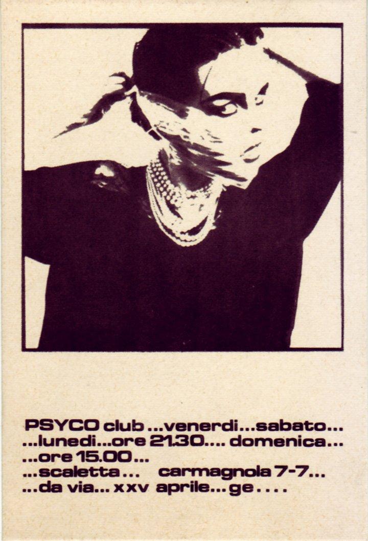PSYCO club, scaletta Carmagnola