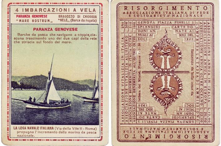 Carte Risorgimento (1920), Paranza genovese