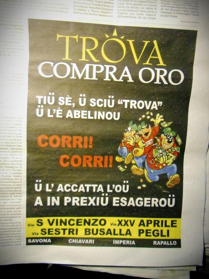 Disney - I Bassotti fanno pubblicità a Trova, compra-oro