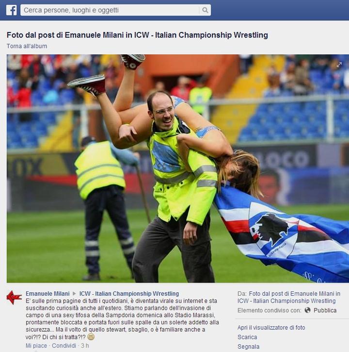 Facebook-  Nudi alla meta con l'invasione di campo in costume da bagno