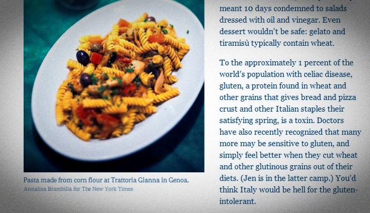 Di nuovo sul New York Times, Trattoria da Gianna ed Exultate