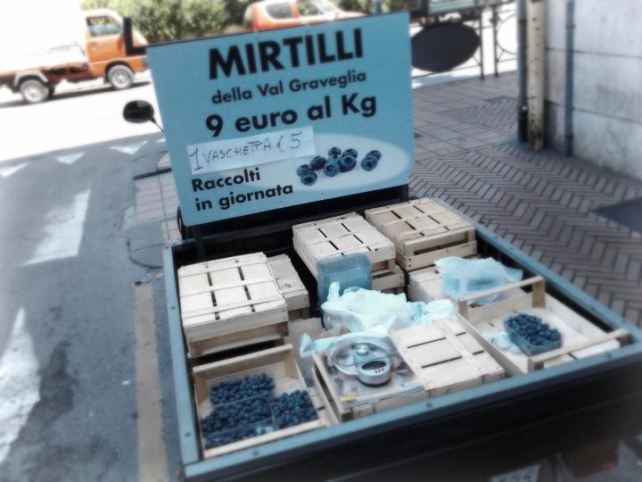 Recco, mirtilli della Val Graveglia, raccolti in giornata