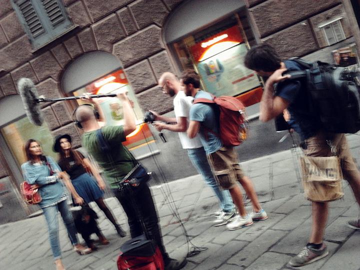 Audio e video in via Ponte Reale