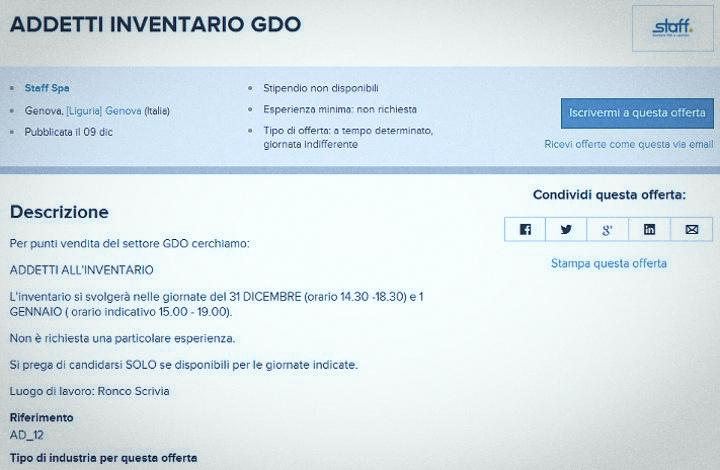 Addetti inventario GDO