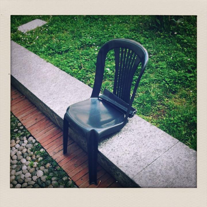 Design metafisico nel giardino della biblioteca Berio