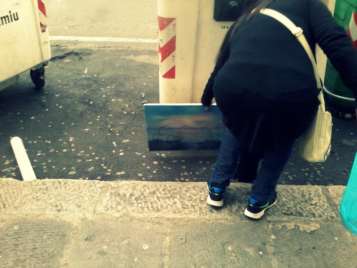 Nunziata, l'arte lascia la strada