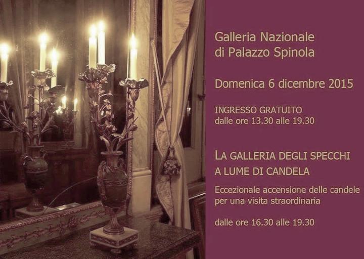 Palazzo Spinola di Pellicceria, la Galleria degli specchi a lume di candela
