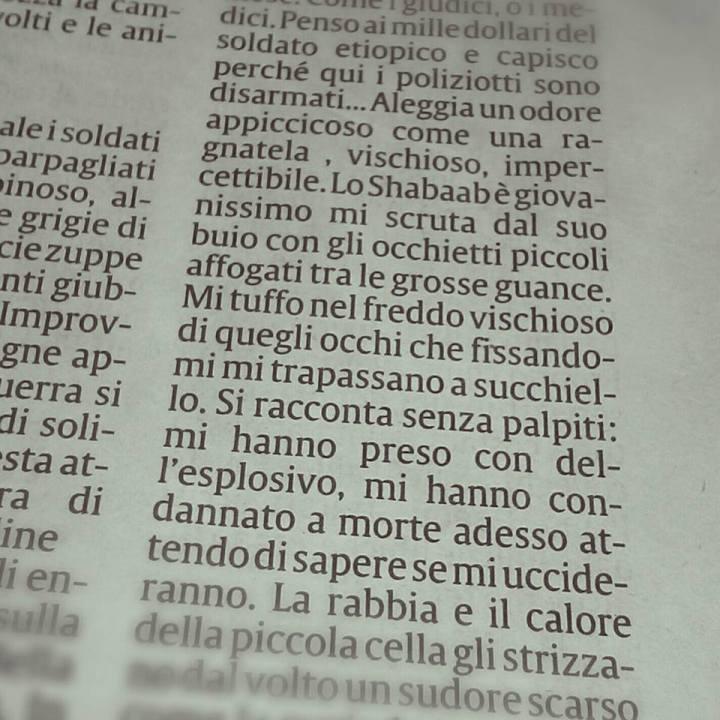 Domenico Quirico e il succhiello vischioso, IL SECOLO XIX